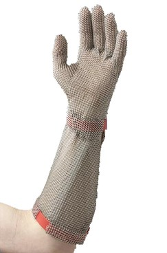 Gloves Stainless Steel 5 Finger with Cuff